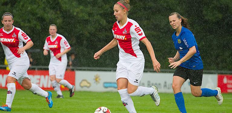 ... und Spitzenunterhaltung beim DFB-Pokalfinale der Frauen in Köln